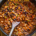 Healthy Chicken Chili Recipe with Fresh Vegetables