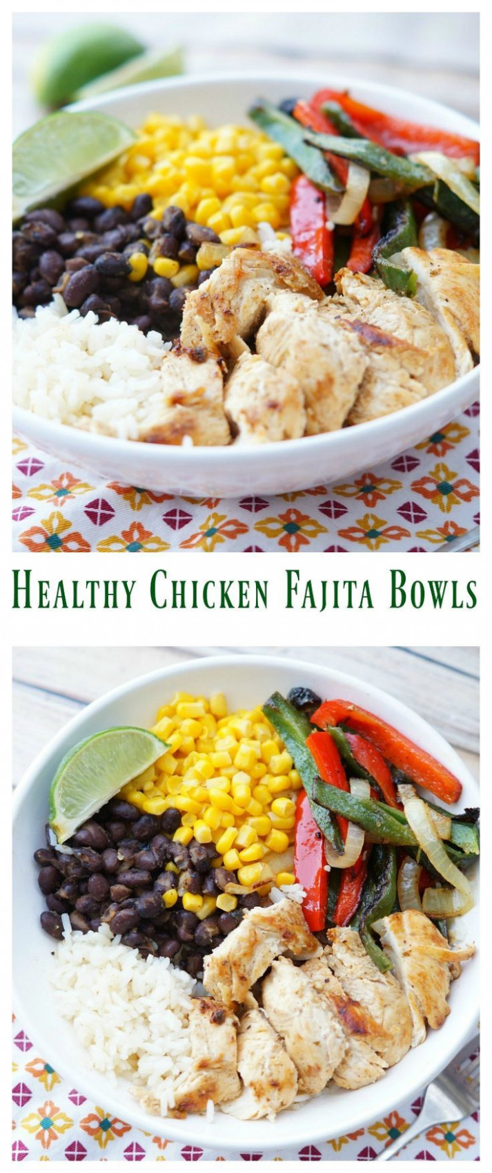 Healthy Chicken Fajita Bowls | Recipe | Healthy chicken ...