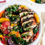 Healthy Chicken Quinoa Beet Bowls