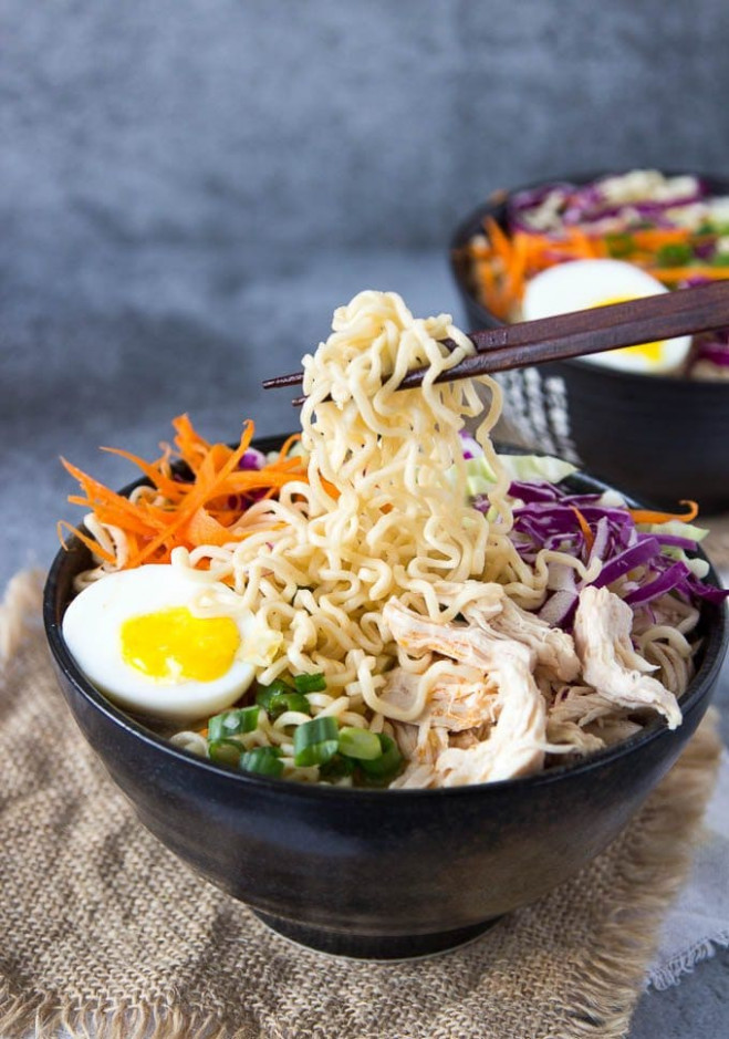 Healthy Chicken Ramen Bowl clean eating - Simple Healthy ...