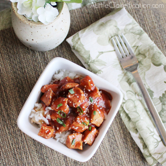 Healthy & Easy Crock Pot Sesame Chicken - A Little ...