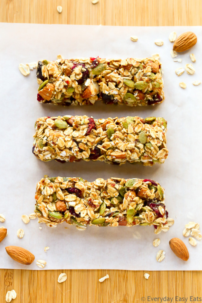 Healthy Fruit & Nut Granola Bars | Everyday Easy Eats