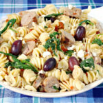 Healthy Greek Pasta Toss With Spinach And Feta