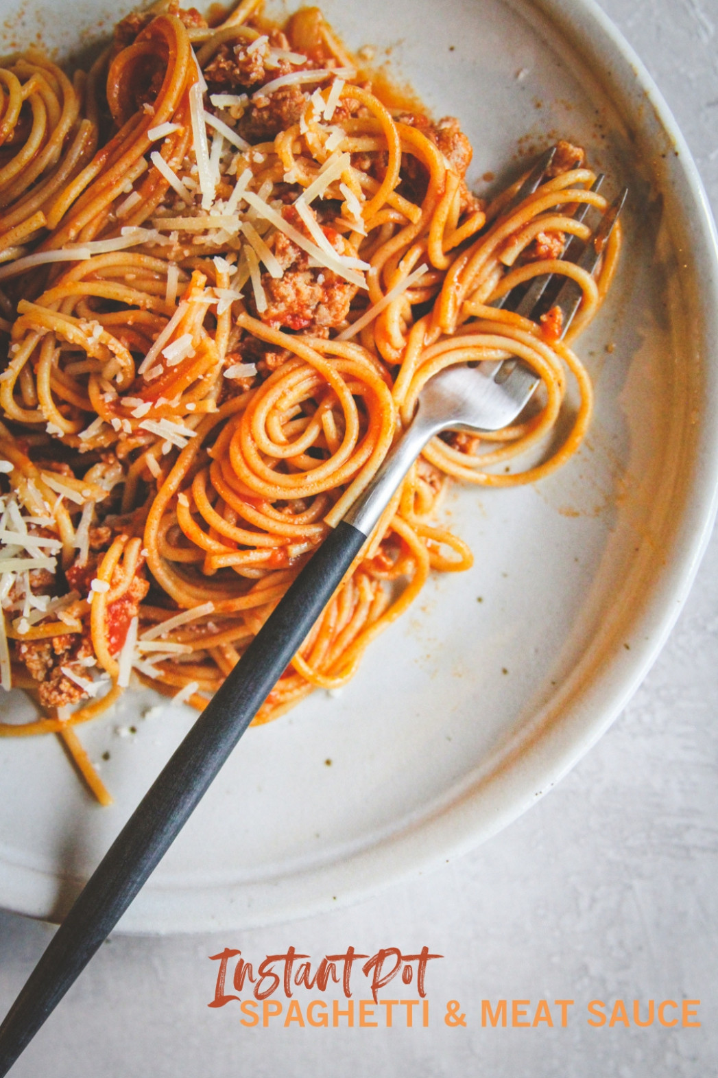 Healthy Instant Pot Spaghetti and Meat Sauce - Sweetphi