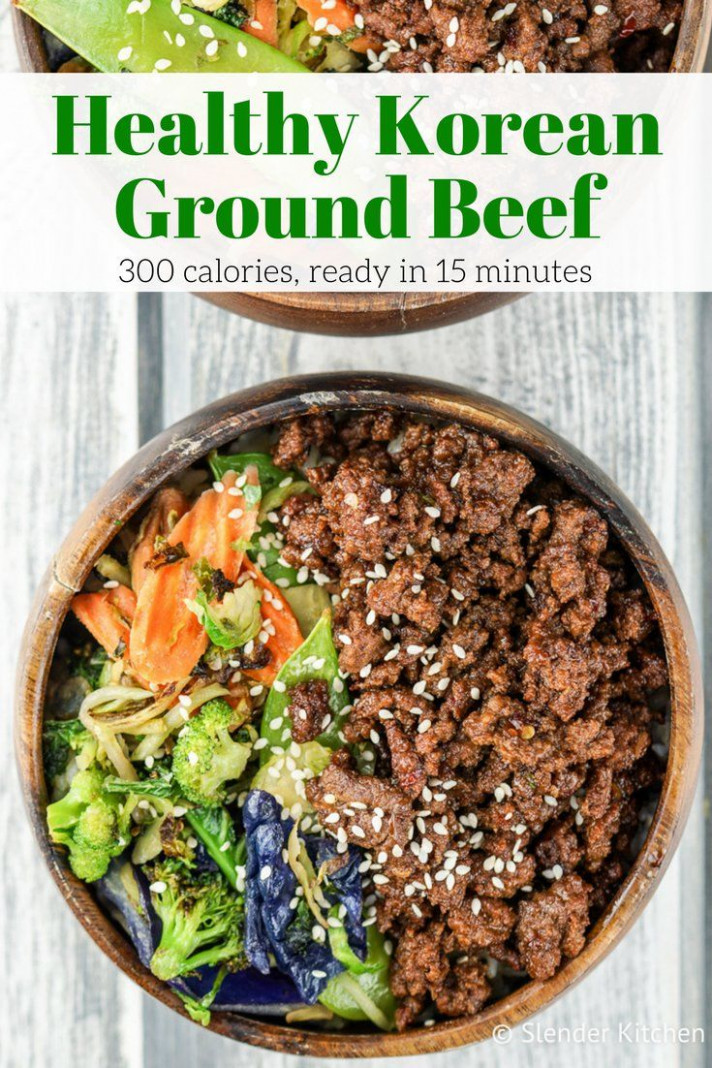 Healthy Korean Ground Beef with Vegetables | Recipe ...
