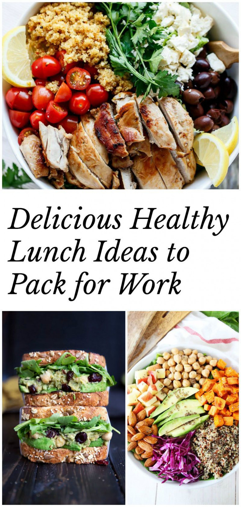 Healthy Lunch Ideas to Pack for Work (40+ recipes ...