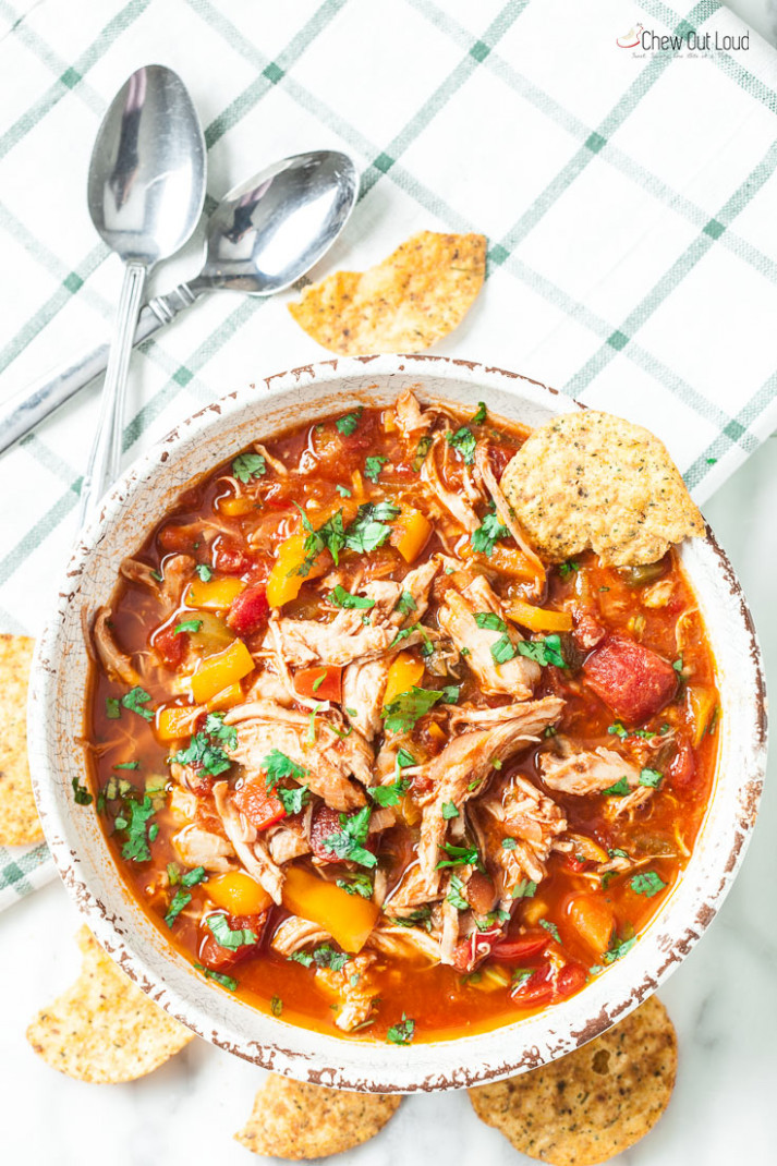 Healthy One-Pot Chicken Chili - Chew Out Loud