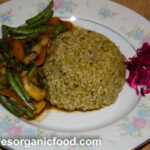 Healthy Organic Freekeh With Saute Vegetables 6