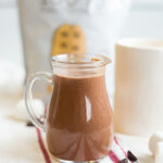 Healthy Peanut Butter Hot Chocolate | What Molly Made