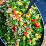 Healthy Quinoa Salad With Light Homemade Dressing Recipe