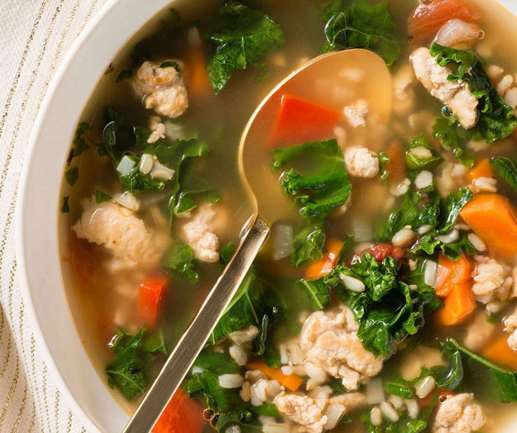 Healthy Recipe of the Month: Turkey, Kale and Brown Rice Soup