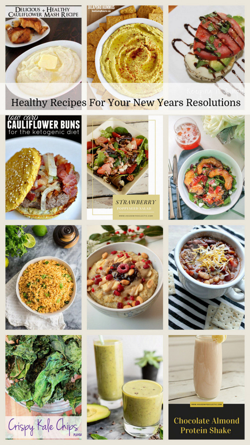 Healthy Recipes For Your New Years Resolutions - Housewife ...