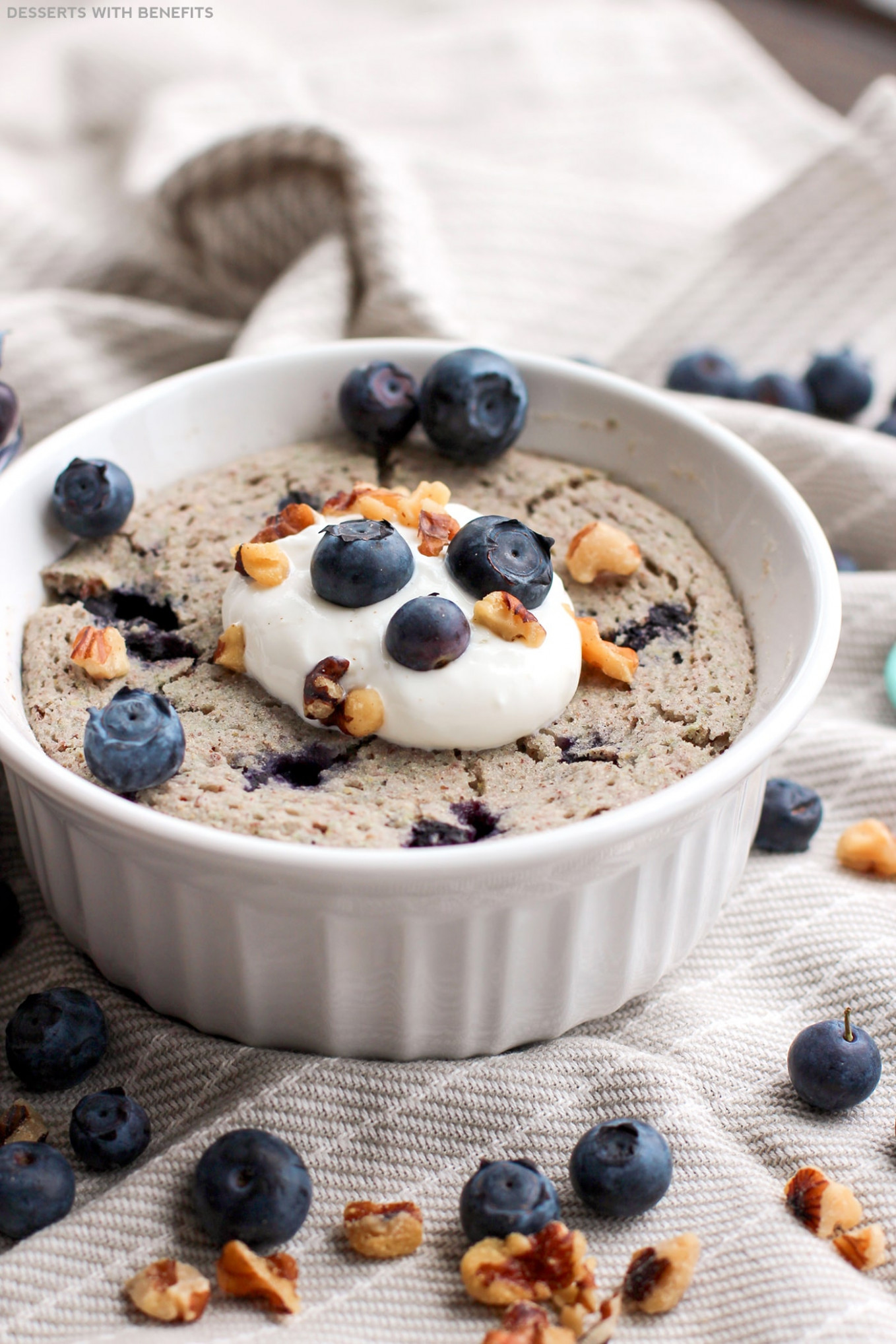 Healthy Single-Serving Blueberry Microwave Muffin | Gluten ...