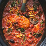 Healthy Slow Cooker Chicken Cacciatore | Creme De La Crumb