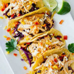 Healthy Sriracha Shredded Chicken Tacos - Jar Of Lemons