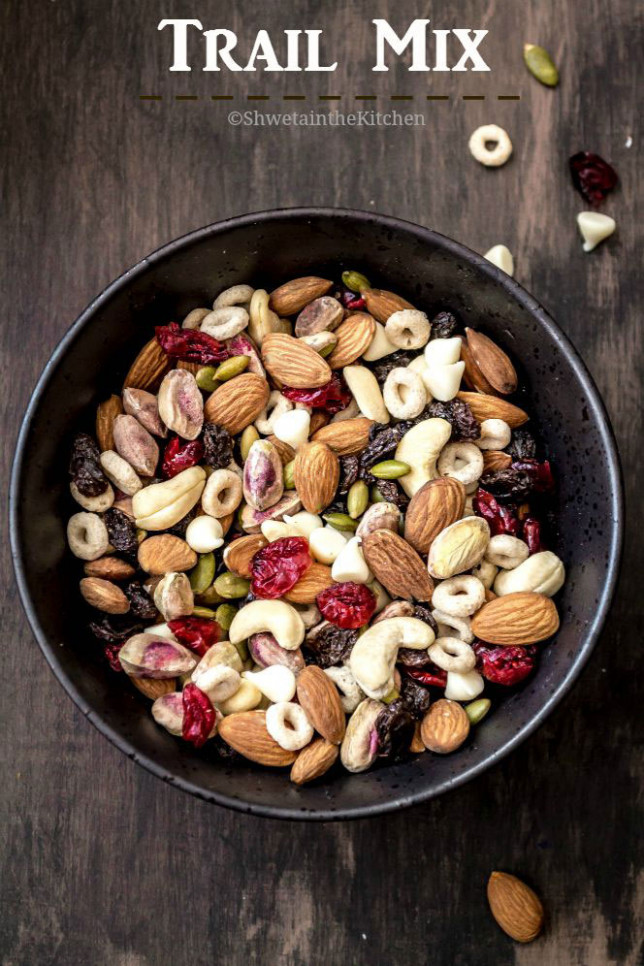 Healthy Trail Mix Recipe - Shweta in the Kitchen