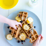 Healthy Waffle Recipe – Banana Oat Blueberry – Refined …