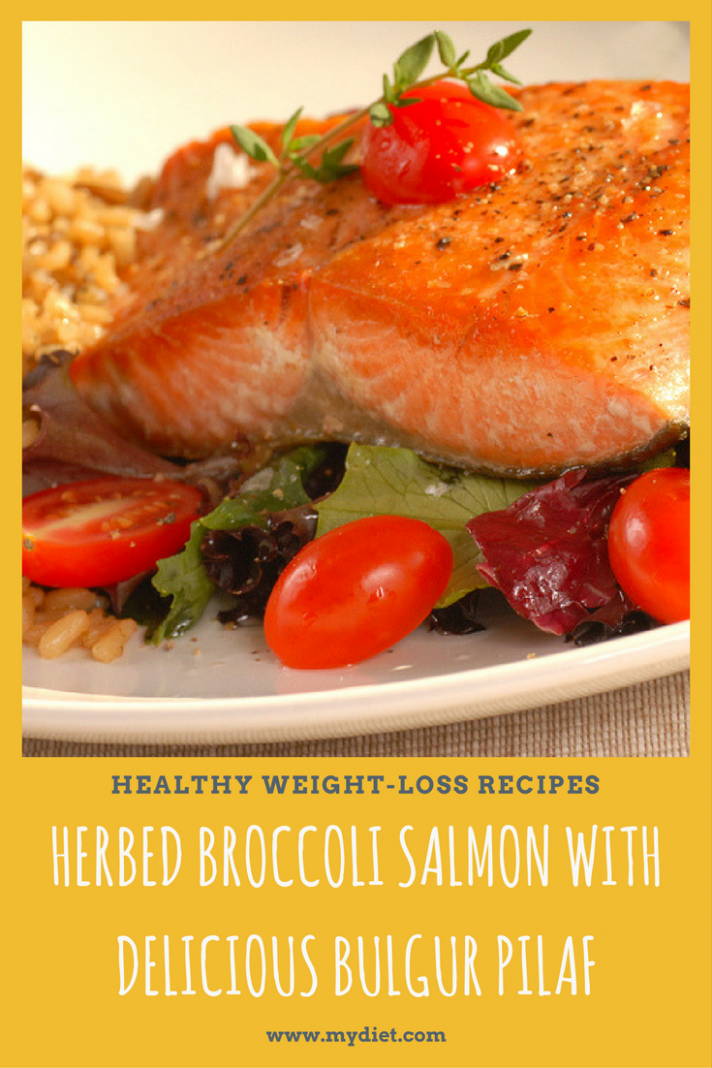 Healthy Weight Loss Recipes: Herbed Broccoli Salmon With …