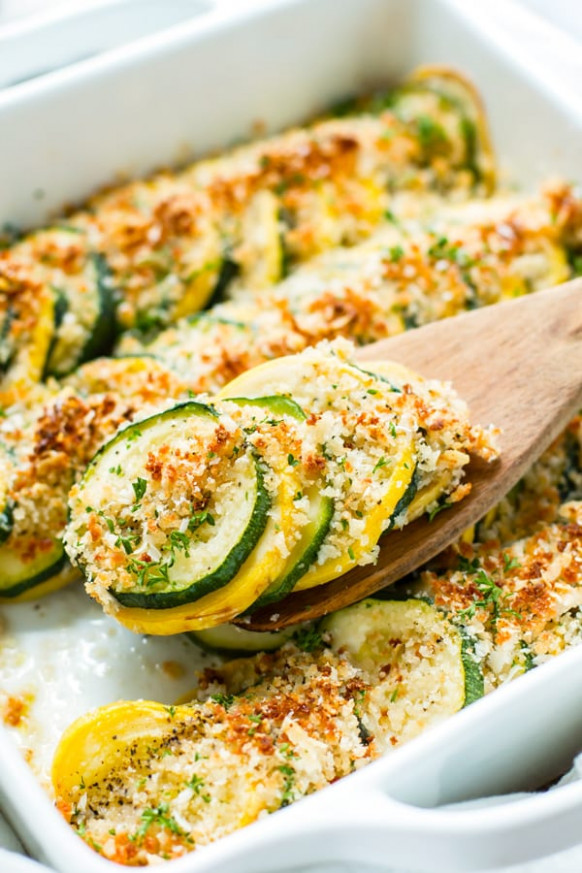 Healthy Zucchini & Squash Casserole Recipe - Evolving Table