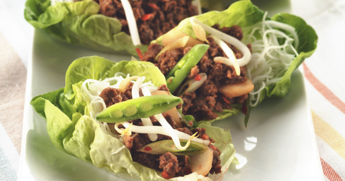 Hoisin Vegetarian & Meat Free Mince in Lettuce Cups Recipe ...