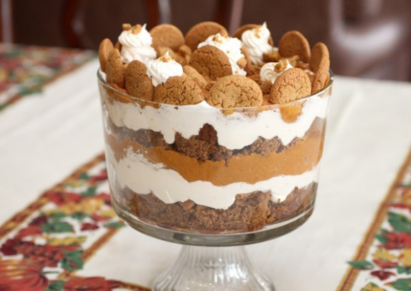 Holiday Pumpkin Gingerbread Trifle – A Simple Holiday …