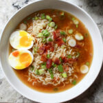 Homemade Ramen With Bacon & Soft Boiled Eggs