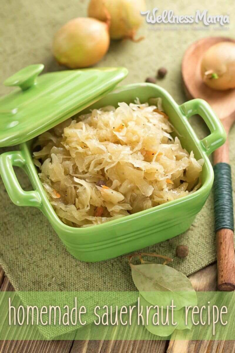 Homemade Sauerkraut Recipe (Easy Countertop Method ...