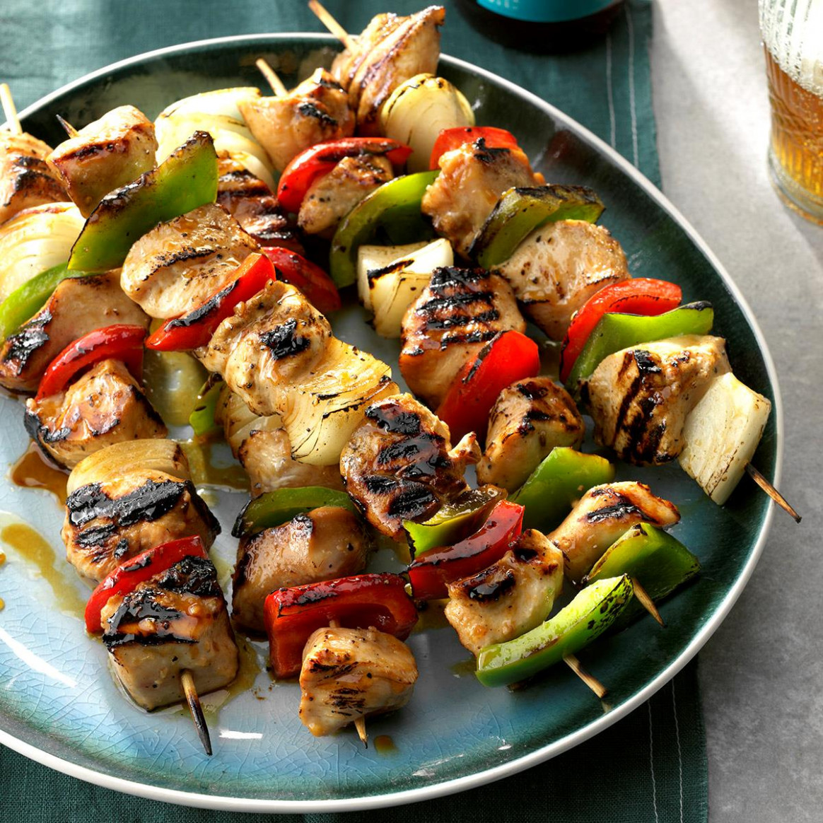 Honey-Glazed Chicken Kabobs Recipe | Taste of Home