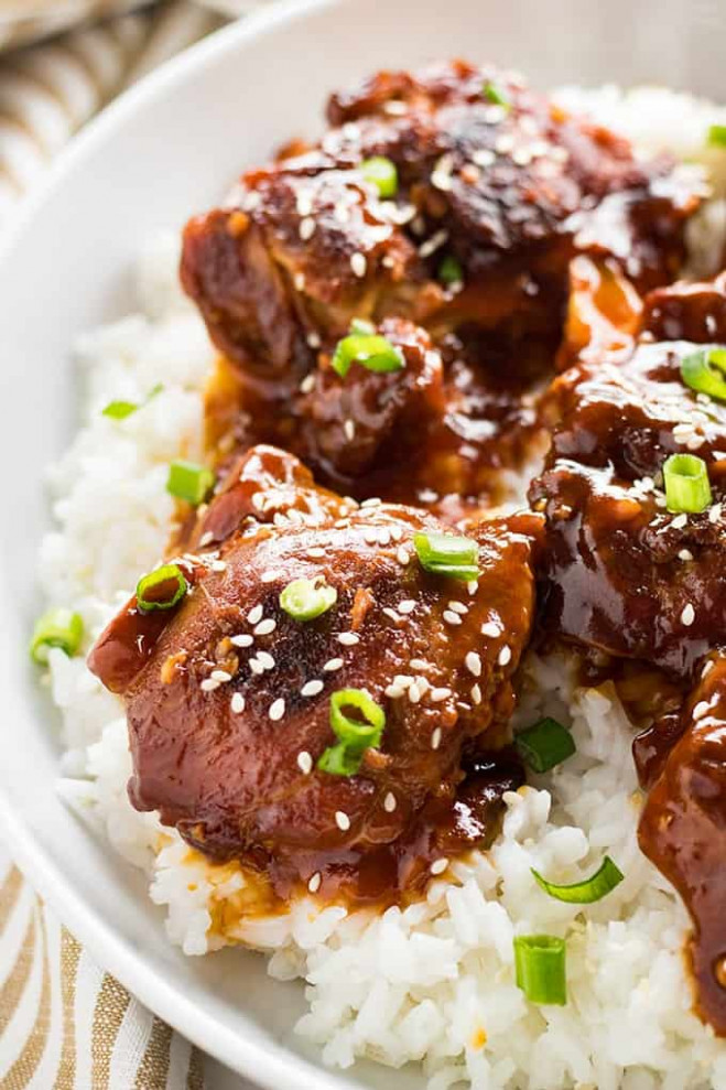 Honey Sesame Instant Pot Chicken Thighs - The Salty ...