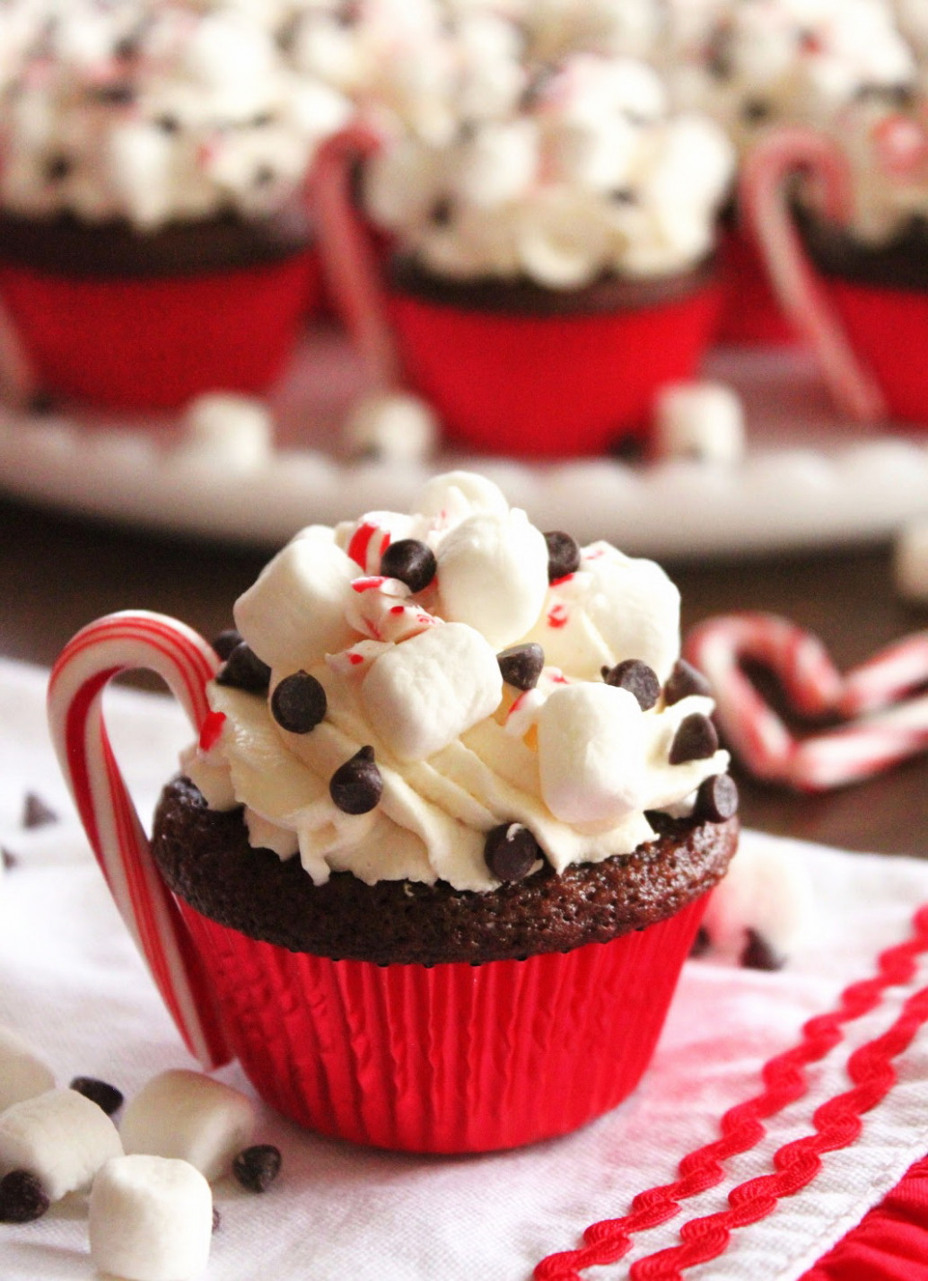 Hot Cocoa Chocolate Cupcake – Christmas Party Dessert Food …