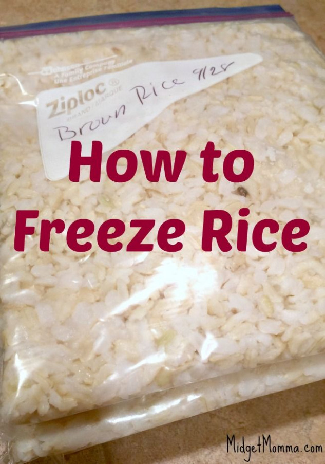 How to Freeze Rice. Easy step by step instructions on How ...