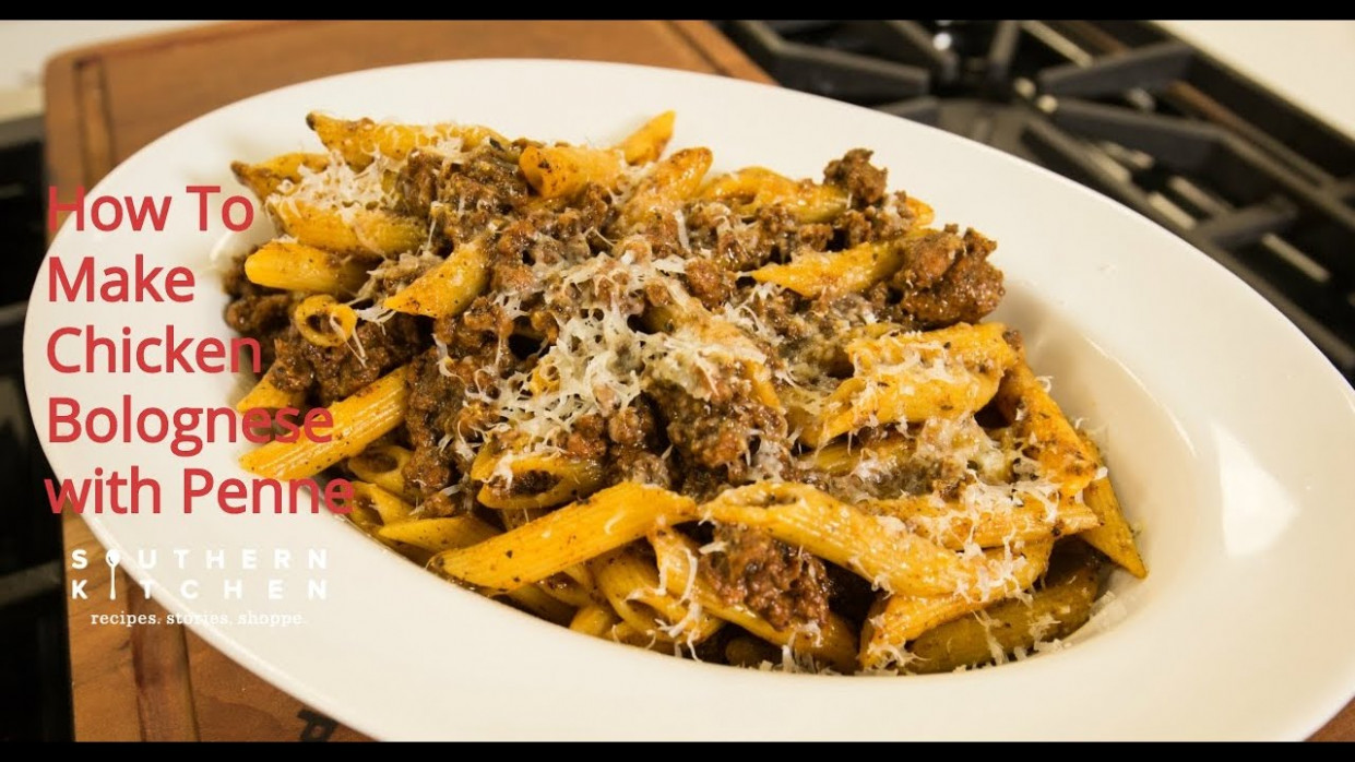 How To Make Easy Penne Pasta With Ground Chicken Ragu