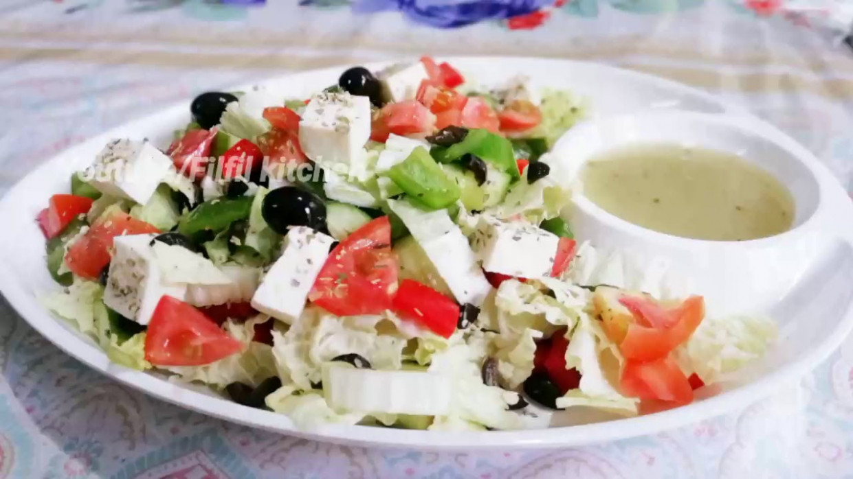 How to make Greek salad / Greek salad recipe in malayalam ...