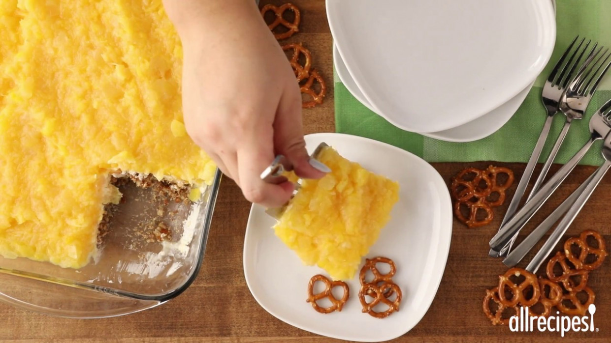 How to Make Pineapple Pretzel Salad | Dessert Recipes ...