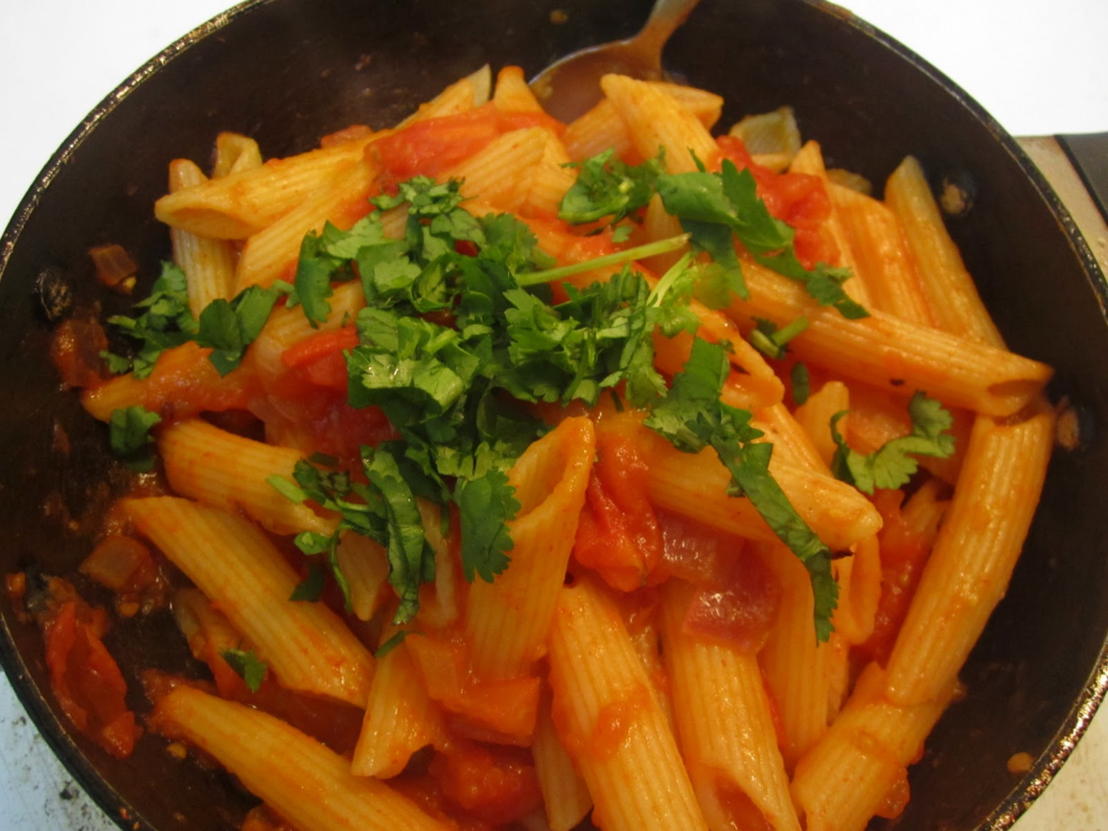 Indian Cooking Recipes: Tomato Pasta - Indian Style