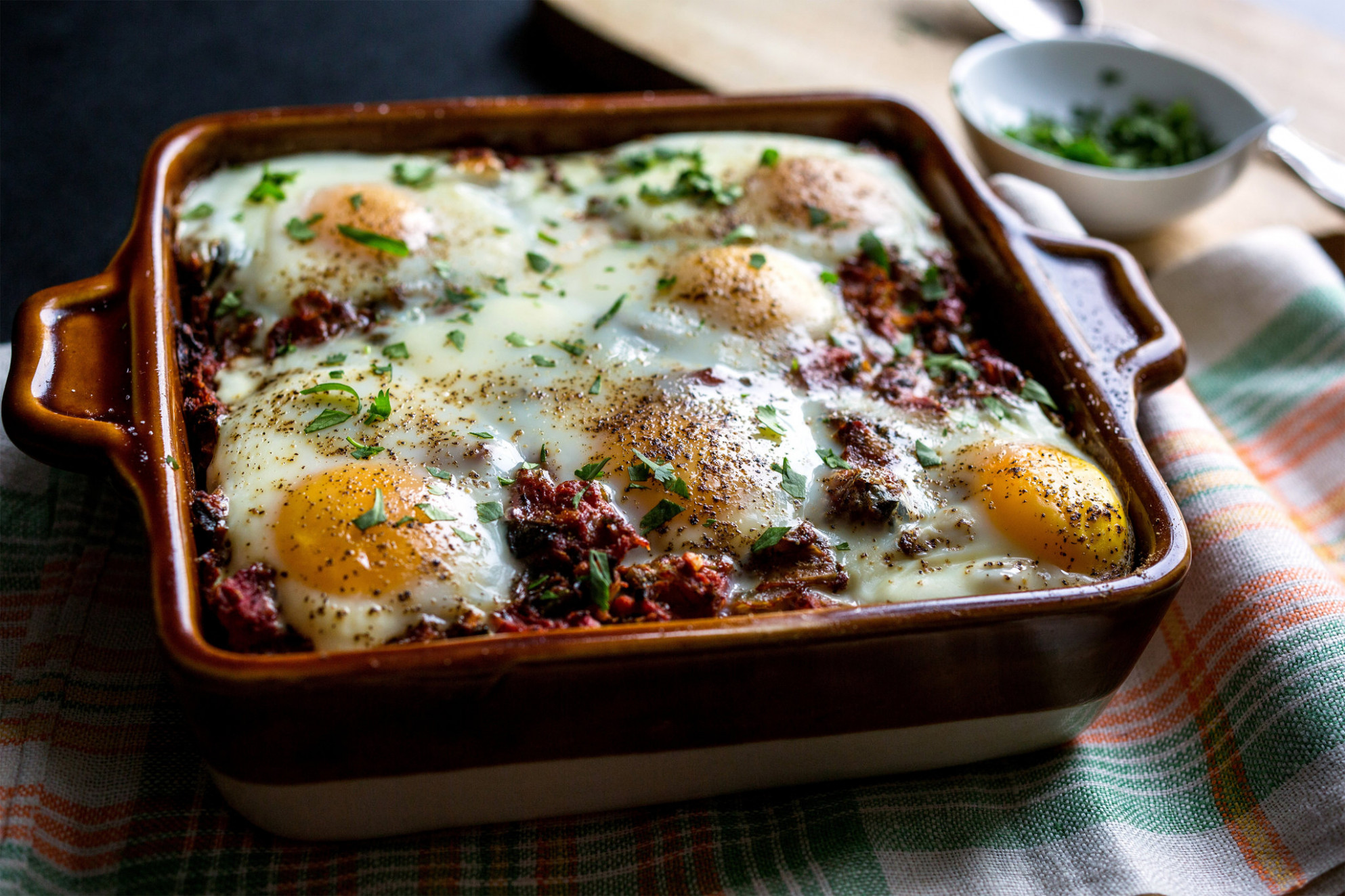 Indian-Spiced Tomato and Egg Casserole Recipe - NYT Cooking