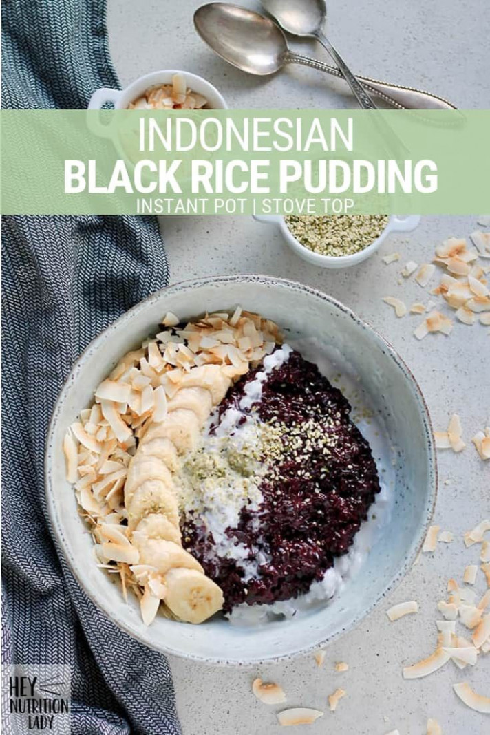 Indonesian Black Rice Pudding is a healthy vegan recipe ...