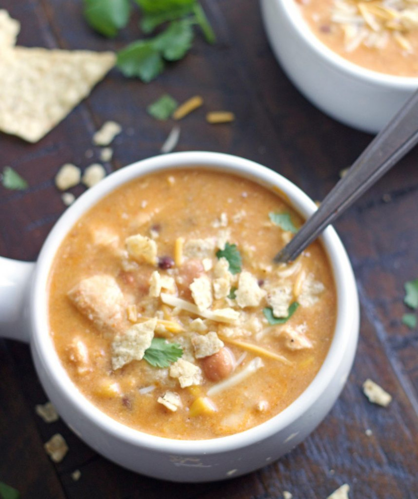 Instant Pot Chicken Enchilada Soup Or Stovetop – 5 Boys ...