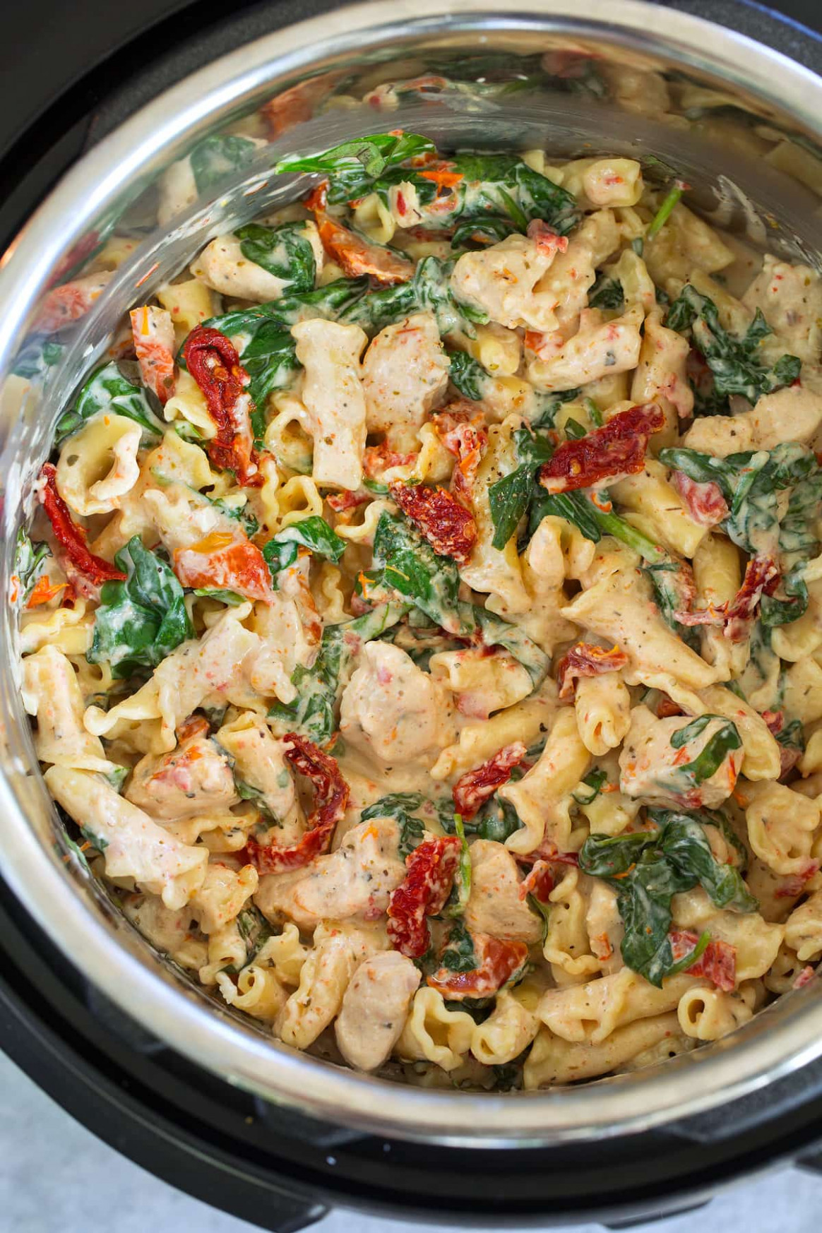 Instant Pot Creamy Tuscan Chicken Pasta - Cooking Classy