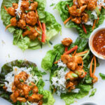 Instant Pot Orange Chicken Lettuce Wraps