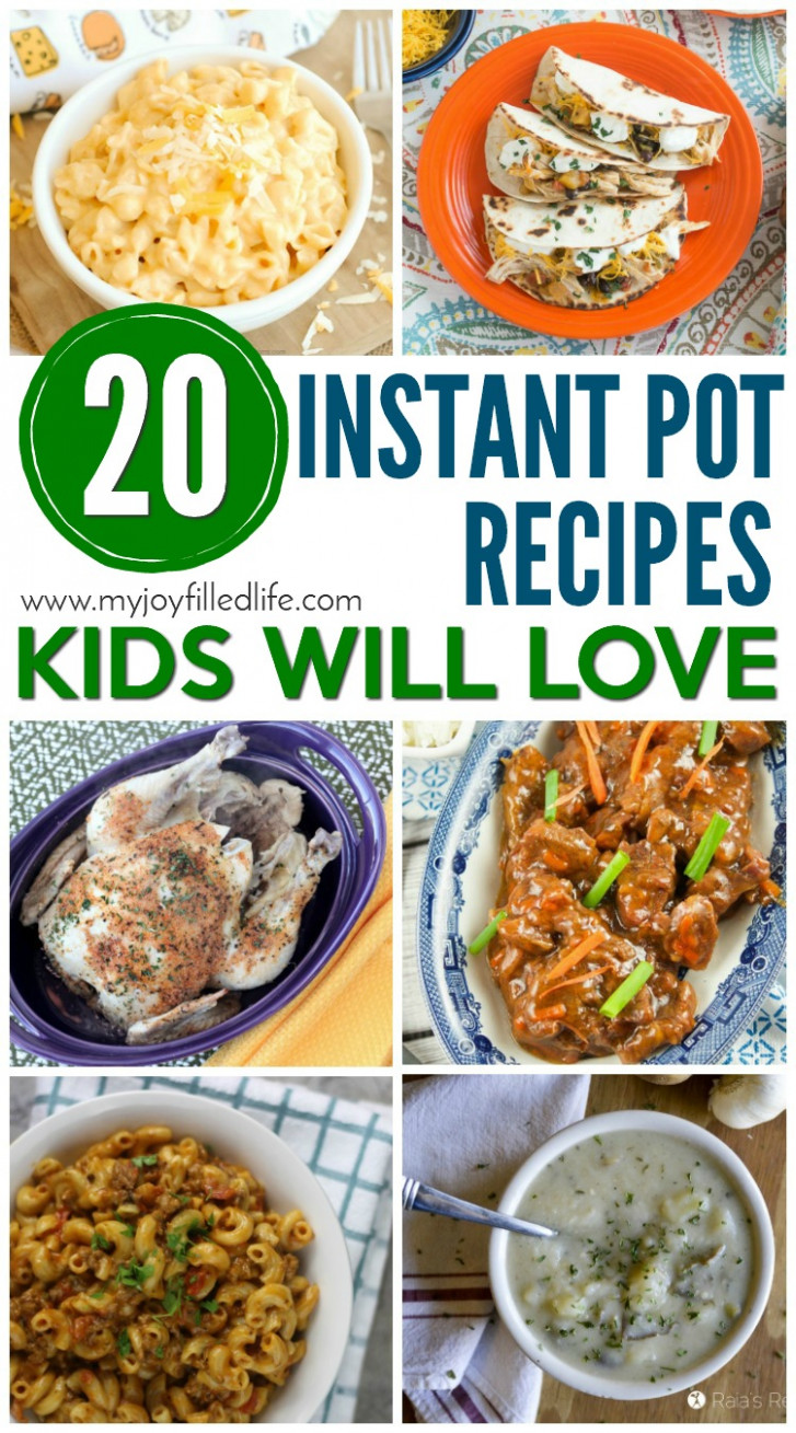 Instant Pot Recipes Kids Will Love - My Joy-Filled Life