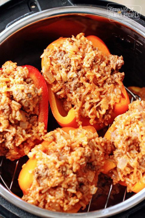 Instant Pot Stuffed Peppers | Favorite Family Recipes