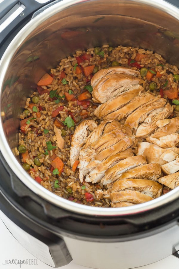 Instant Pot Teriyaki Chicken and Rice Recipe (pressure cooker)