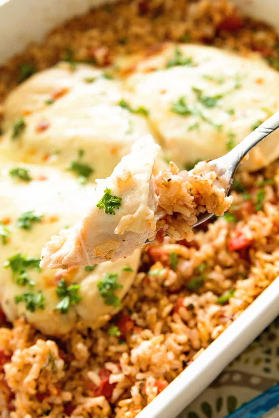 Italian Cheesy Chicken and Rice Casserole Recipe - Julie's ...