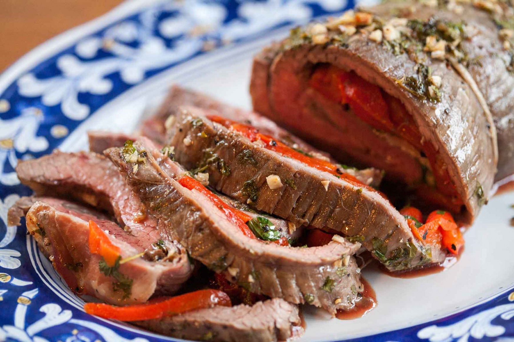Italian Party Flank Steak Recipe — Dishmaps