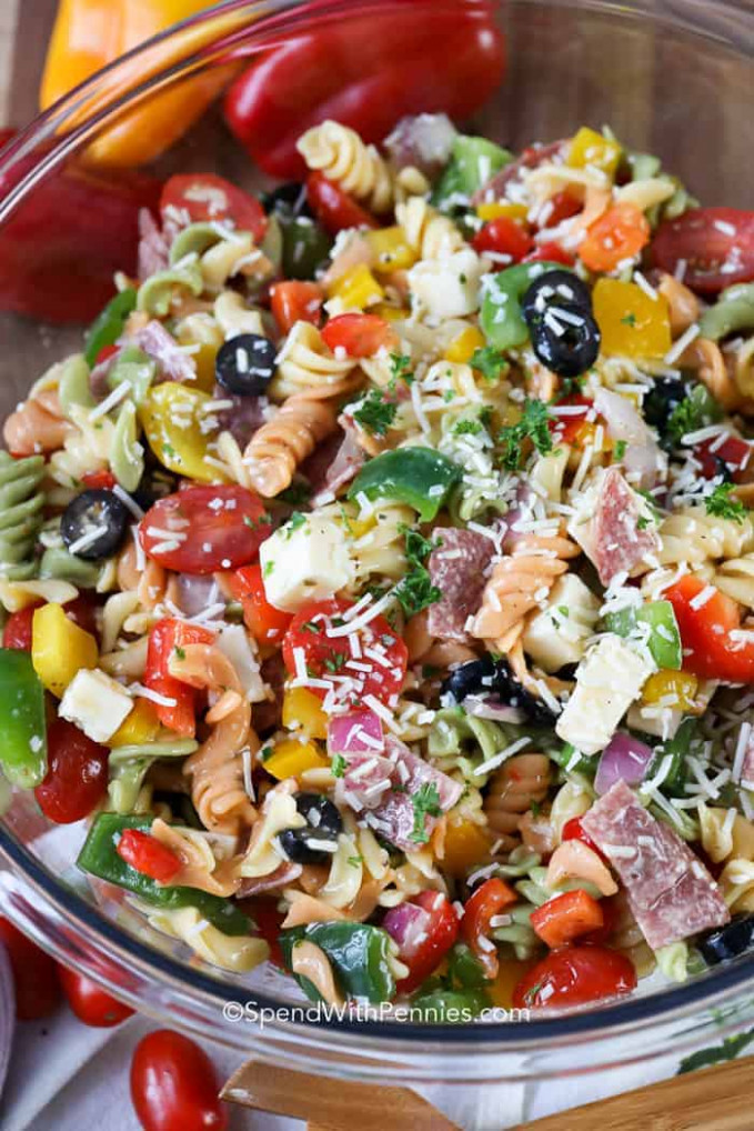 Italian Pasta Salad - Spend With Pennies