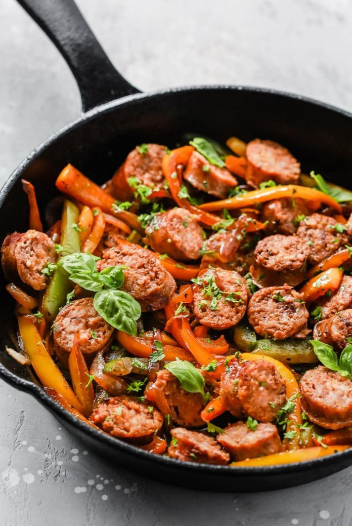 Italian Sausage, Onions and Peppers Skillet | Recipe ...
