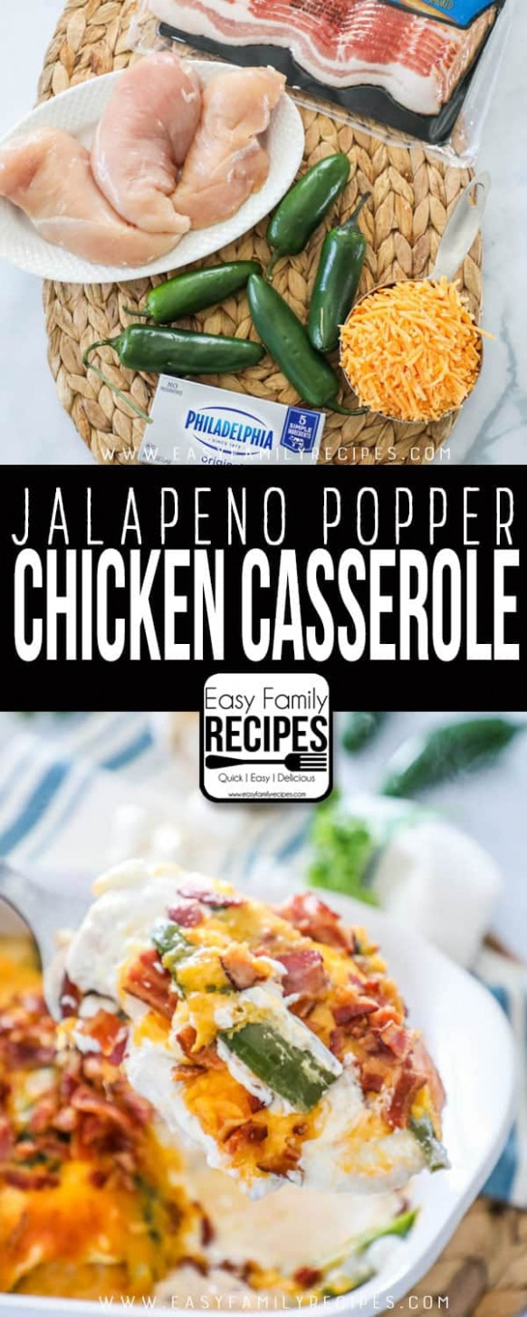 Jalapeno Popper Chicken Casserole · Easy Family Recipes