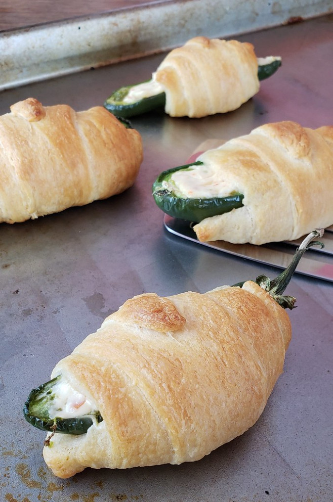 Jalapeño Poppers Wrapped in Honey Butter Crescent Dinner Rolls Recipe