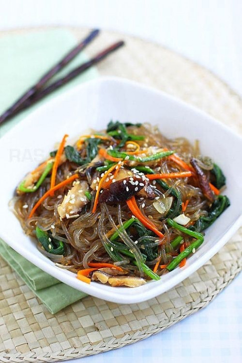 Japchae (Chap Chae) | Easy Delicious Recipes